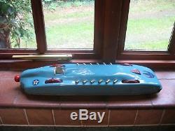 HUGE MALCOLM CAMPBELL BLUEBIRD LAND SPEED racing car BUFFALO TOYS TINPLATE TIN