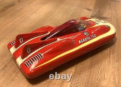 Haji Japan Fiat Abarth 750 land speed record car, tinplate / latta litografata