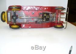 Huge 20 Inch Jep Hispano-suiza Open Touring Car Tin Windup 1920's