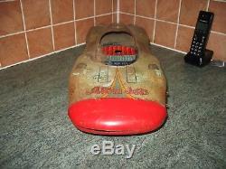 Huge Yonezawa Atom Jet 58 Race Car Vintage Tin Toy Japan Space Age Rare Tinplate