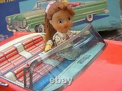 ICHIKO TIN PLATE FRICTION SELF STEERING CAR No 60 BOXED JAPANESE