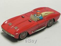 Ichiko Chevrolet Corvette Stingray tin toy car 9 Japan 1960s batt op auto latta