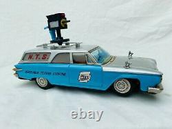 Ichiko N. T. S. Nederlandse Televisie Stichting Car Tin Toy Japan Very Rare