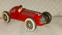 Ingap Prewar Alfa Romeo Racer Race Car Tin Toy Car Vintage Italy