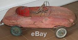 JAGUAR E TYPE TRIANG pedal car AUTHENTIC 1961 auto garage VINTAGE sign ENGLAND
