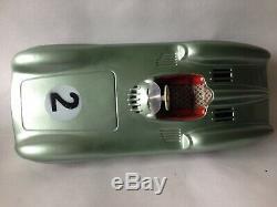 JNF Mercedes Benz Tin Plate Friction Drive Model Car Western Germany Vintage