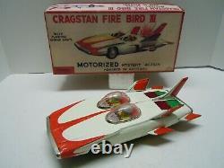 Japan Alps Tin Battery Op 1964 Firebird lll GM Concept Car withBOX. A+. Works