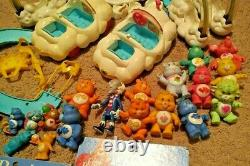 KENNER Vintage 1980s CARE BEARS Toys CLOUD CARS Care-A-Lot Playset PUZZLES