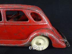 KINGSBURY Chrysler Airflow Sedan -Electric Lights Pressed Steel Vintage Toy Car