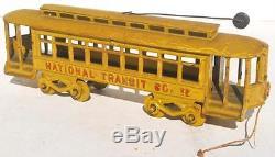 Kenton cast iron train trolley car 15 4 door
