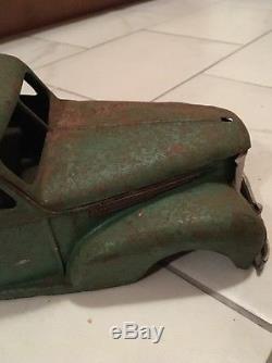 LARGE 1940's Metal Toy Car Antique Vintage AS IS 13