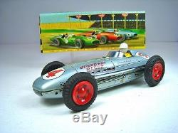 LINEMAR Tin Friction Indy 500 Watson Roadster Race Car 8 NMIB