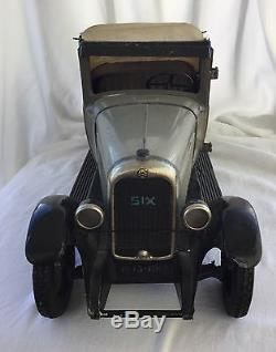 Large Andre Citroen Cabriolet C6 Tin Windup Toy Car Made in France NR