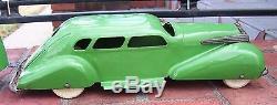 Large Vntg 1937 Wyandotte Pressed Steel LaSalle Sedan Car & Travel Trailer 26 L