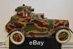 Large tin litho wind up armored car or tank! German Arnold Tippco