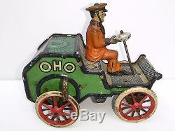 Lehmann Tin Wind Up Toy Oho Car Made In Germany, Pre-War 1906-1916