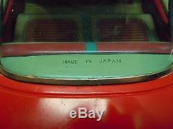 Lg 13 Ichiko Japan Tin Friction 1959 Oldsmobile 2 Dr HT Car. A+. Works. No Res