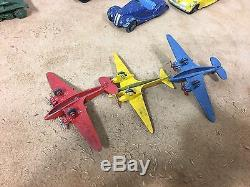 Lot Of 13 Vintage Metal Dinky Car Plane Toys Made In England By Meccano Ltd