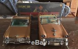 Lot Of 2 Made In Japan Tin Toy Cars Cadillac And Ford