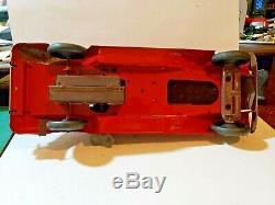 Louis Marx G-Man Justice Pursuit Car Wind-Up Toy Pressed Steel Spark Car