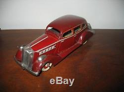Lovely Car Scarce 1936 Packard Nomura Kuramochi Japan Tinplate Tin Toy Clockwork