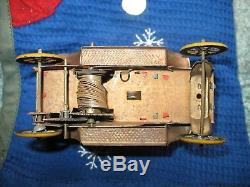 Lovely rare 1900s ANTIQUE ZETT LIMOUSINE GERMANY TINPLATE CAR TIN TOY wind up