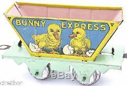 MARX 1930s BUNNY EXPRESS BUNNY TRAIN WINDUP TIN LITHO DUCK CAR #3