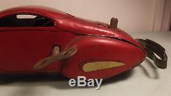 MARX TIN WINDUP REVERSIBLE COUPE BIG RARE 1930s STREAMLINE CAR WORKS