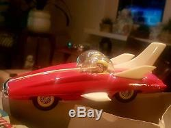 MIB RAREST! MF 761UNIQUE MINT BOXED DUAL RACER China tin toy friction space car