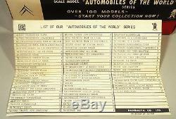 Mib Tin Friction 60's Citroen Ds 19 Station Wagon Car Original Box Bandai Japan