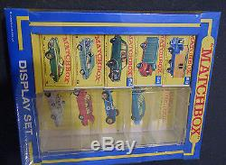 MINT IN MINT SHRINK-WRAPED BOX! MATCHBOX DISPLAY SET, 5 CARS in BOXES 1960's