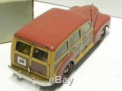 Marchesini MLB giardinetta woody tin toy car 10.5 1948 withbox Ford Fordor latta