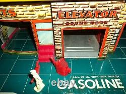Marx 24 Hr Service Station with most of plastic parts working elevator and lift