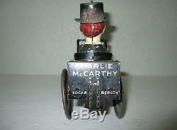 Marx Charlie McCarthy Car Tin Litho Wind Up Toy