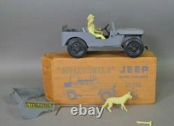 Marx NellyBelle Willys Jeep (car Truck) with Pat, Dale and Bullet