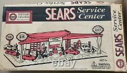 Marx Sears Service Center Tin Lithograph Gas Station Diorama Cars Toy 30 Yr Set