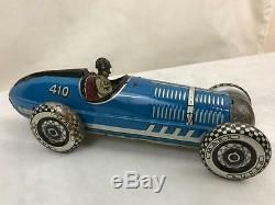 Marx Toy Racer Racing Indy Gp Brookland Car Tin Plate Clockwork Friction Wind Up