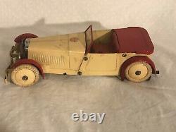 Meccano Constructor Car 1930's Wind Up Race Car