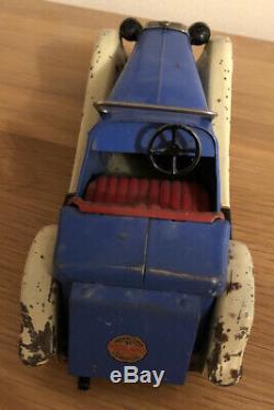 Meccano No 1 Non Constructor Car Clockwork Pre War all original Blue/cream
