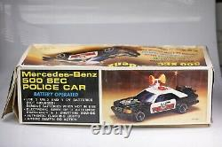 Mercedes Benz 500 SEC Battery Operated Police Car 1/10 AGT Toys Vintage RARE