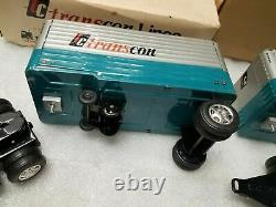 Mint Box Vintage Tractor Trailer Truck Pup Trailer Friction Car Japan Rare Tin