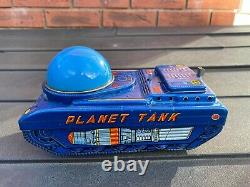 Modern Toys Japan Tinplate Space Planet Tank Excellent Working Rare