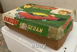 Modern Toys RADICON NEW SEDAN Tin Toy Car Battery Op. Remote Japan 1950s
