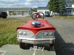 Murray Fire Chief Pedal Car City Battalion No. 1 Vintage 1960s