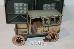 NICE EARLY 1910's/20's BING TIN LITHO GARAGE with TWO WIND UP CARS SET #2