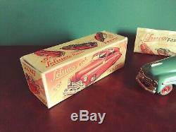 Near Mint 1950's US Zone Schuco FEX 1111 Tin Wind-up Hellraiser Car with Or. Box