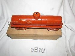 Near Mint Boxed 1888 Wilkins 13 5/8 Lg Cast Iron Floor Train Tank Car Kingsbury