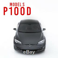 New Tesla Diecast 118 Scale Model S P100D Toy Display Car Mint Vintage Decor
