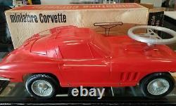 Nib! Box Vintage Republic Ride On Toy 1964 Corvette Toy 427 Dealer Promo Car
