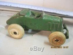 Nice Antique Cast Iron Arcade Austin Race Car